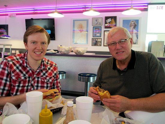 Parker's Drive-In Restaurant: Enjoying Burger and Fries
