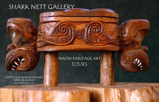 """Shark Nett Gallery: Maori Treasure Box - """"Waka Huia"""""""