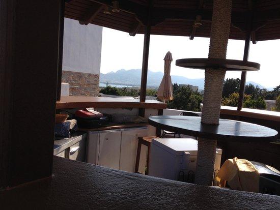 Naxos Palace Hotel: Vista des del bar