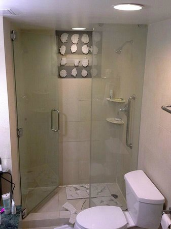 Doubletree By Hilton - Times Square South: Falling ceramic tiles in the shower