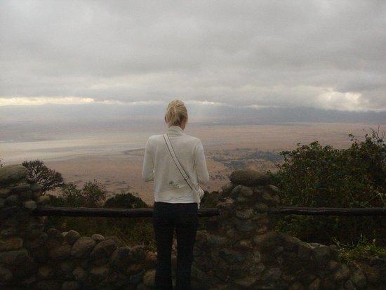 Ngorongoro Serena Safari Lodge: view from the terrace