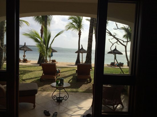 One&Only Le Saint Geran: View from a Junior Suite Beachfront