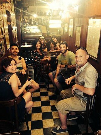 Venice Urban Adventures : Our lovely group in the evening Cicchetti & Wine tour