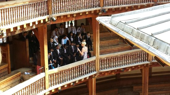 Shakespeare's Globe Theatre: view from the upper seats