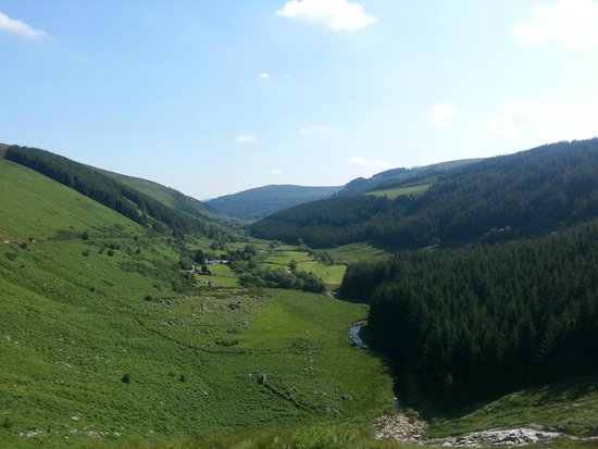 Wicklow Mountains National Park: Glenmacnass Waterfall view from The Old Military Road