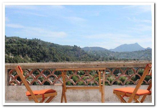 La Farnesine : terrasse chambre la Gallina
