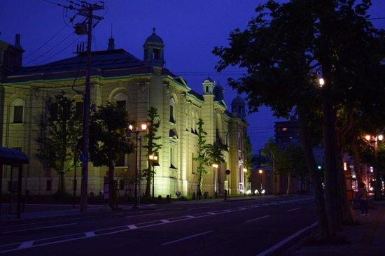 Otaru Museum, Bank of Japan : ライトアップされた、金融資料館