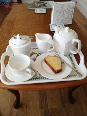Pine Lodge Guest House: Our tea tray upon arrival - we felt very welcome!