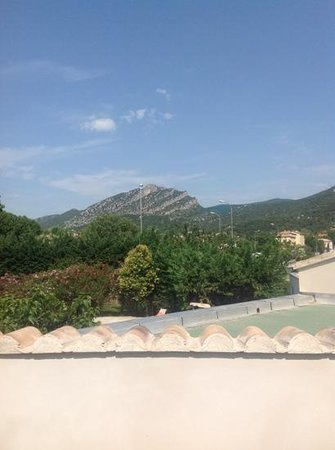view from balcony, Auberge Cigaloise