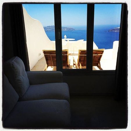 Rocabella Santorini Resort & Spa : Balcony view from Room 12