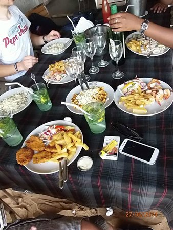 Britto's: Our Dishes during first day in Brittos for lunch ! came back again and again after...