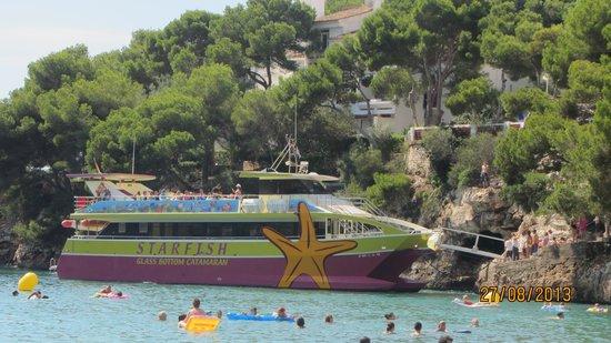 Barcelo Ponent Playa : Остановка корабликов рядом с отелем