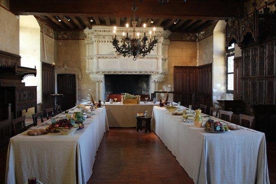 Château de Langeais : Mise en scène d'un banquet