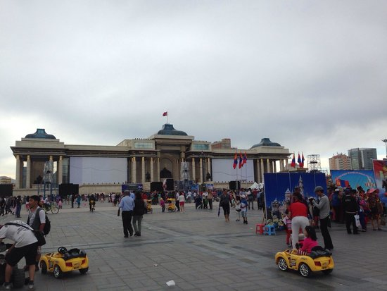 Genghis Khan Square: The government building overlooking the square