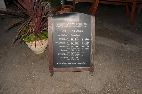 The Old Swan: Opening Hours - Food not available every night it seems.