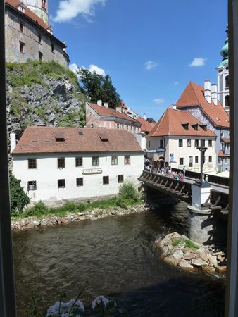 Hotel Dvorak: View from room across bridge