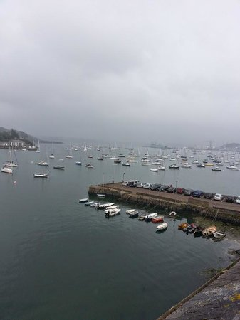 The Greenbank Hotel: Overcast but gorgeous view of Falmouth harbour