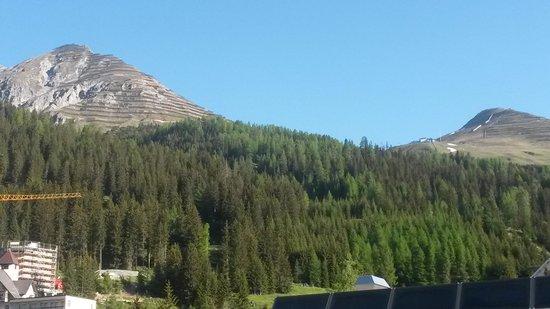Kongress Hotel Davos: Zimmeraussicht Nordseite