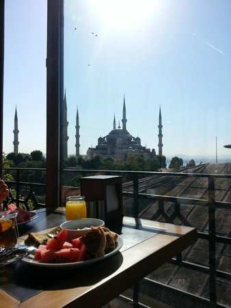 Hotel Spectra : Breakfast with a beautiful view!