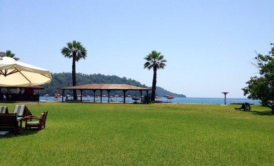 The Bay Beach Club: Пляж рядом с отелем
