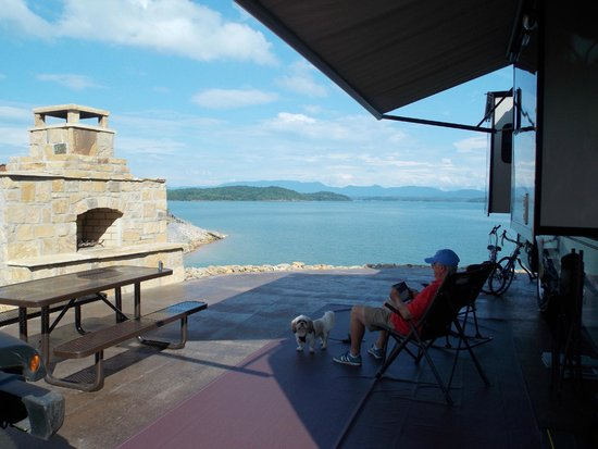 Anchor Down RV Resort: View from site 174