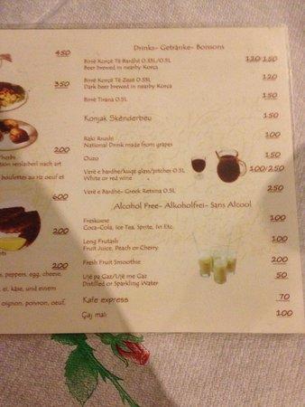 Kujtimi: menu quadrilingue