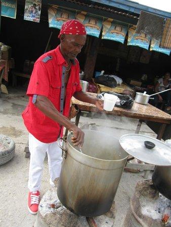 PPP Tran Tours Jamaica: Cooking freshly caught fish