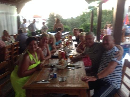 Eftelya Apart Hotel: ore bbq evening presented by thw wonderful owners,thank you
