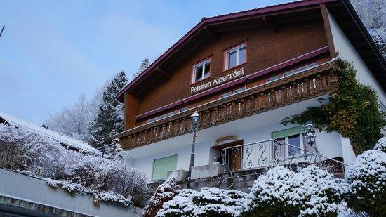 Pension Alpenrosli: Утро, февраль 2014