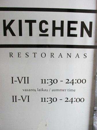 Kitchen : Вывеска