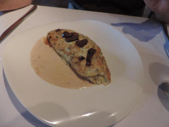 Le Moulin de Bourgchâteau : omelette aux truffes