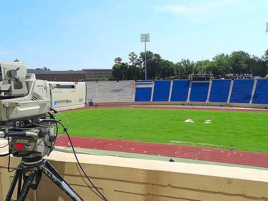 Wallace Wade Stadium: new blue seats going in