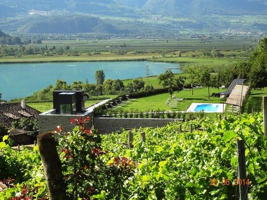 Hotel Restaurant Haus am Hang: zicht op omgeving en het meer ..