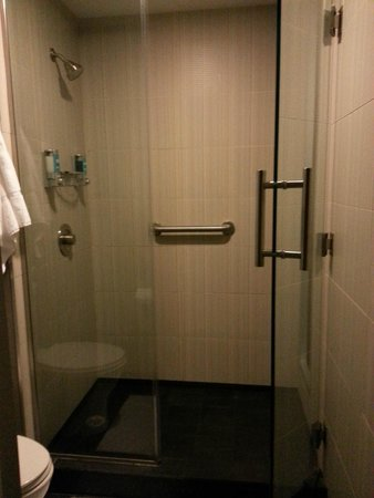 aloft Winchester: Nice sized shower with easy access