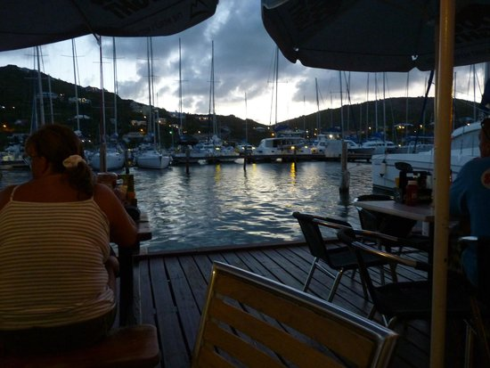 Dinghy Dock Bar: The View from our Table