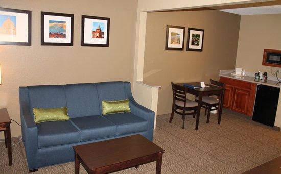 Comfort Inn & Suites: 1 Bedroom Suite - Living Area