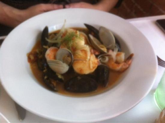 The Wellington Room: seafood risotto
