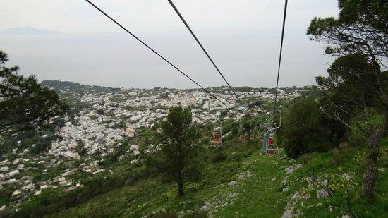 Mount Solaro: Retorno de teleferico