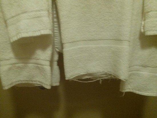 Best Western Plus Plaza Hotel : ravelled towels