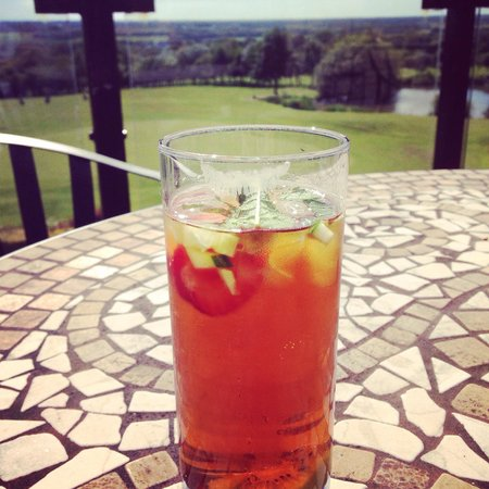 Houghwood Golf: Pimms on the balcony