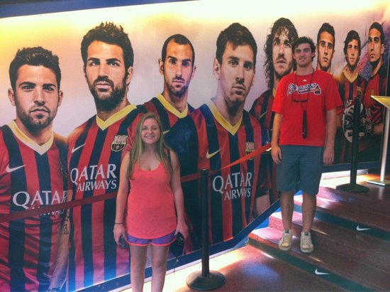 Camp Nou: The wall of champions in the players entrance