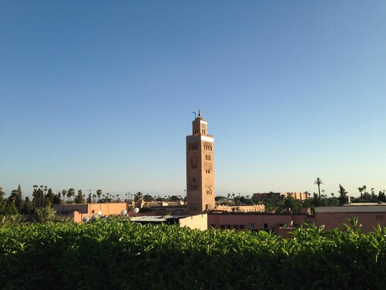 Les Jardins de La Koutoubia: roof top pool view