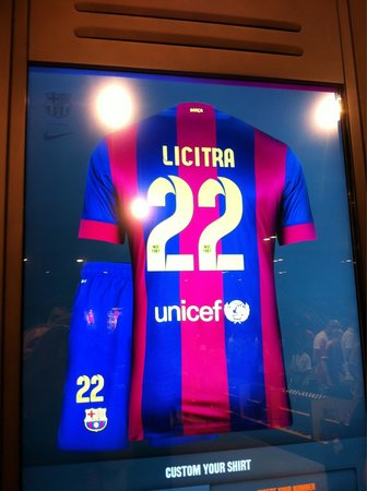 Camp Nou: My personalized kit from FC Barcelona