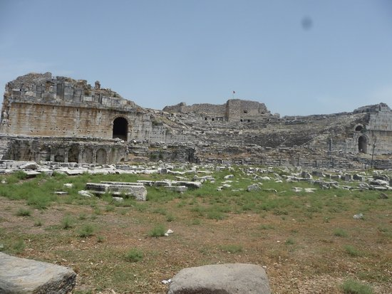 Miletus: theater seen from the parking lot