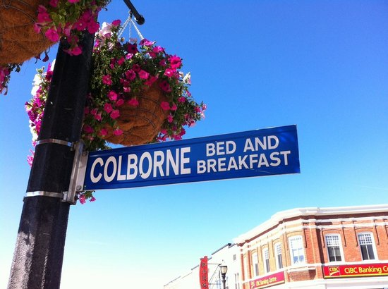 Colborne Bed and Breakfast: Downtown Sign