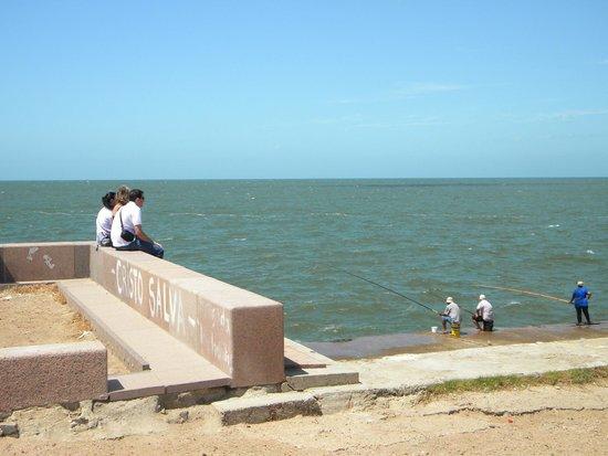 Rambla de Montevideo: Visão do mar