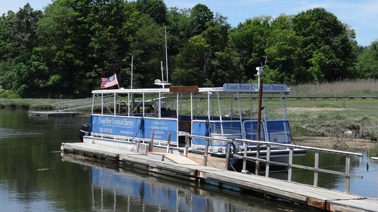 Essex River Cruises & Charters: dock and boat