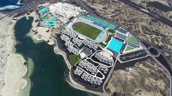 Tinajo, Spanyol: Overhead view of Club La Santa
