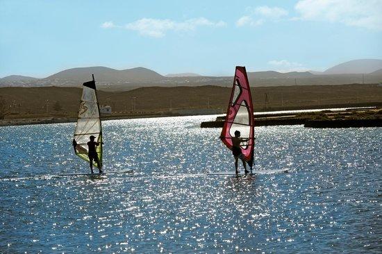 Club La Santa: Windsurf on the lagoon