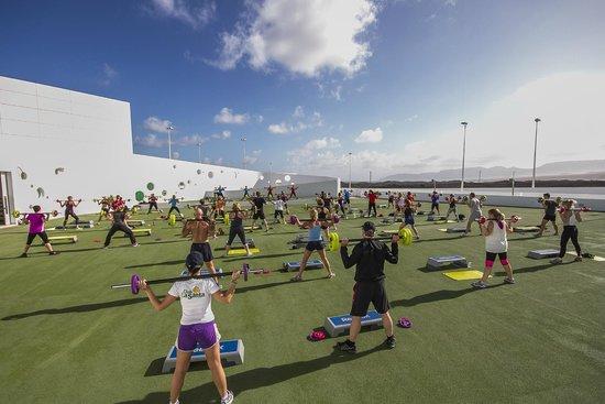 Club La Santa: Volcano aerobics and dance arena